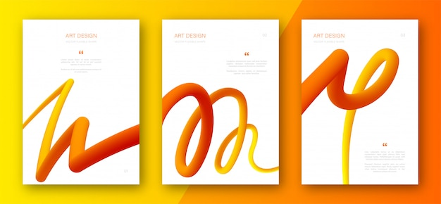 Flyers with abstract fluid gradient shapes