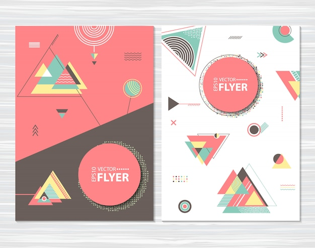 Flyers with abstract geometric shapes