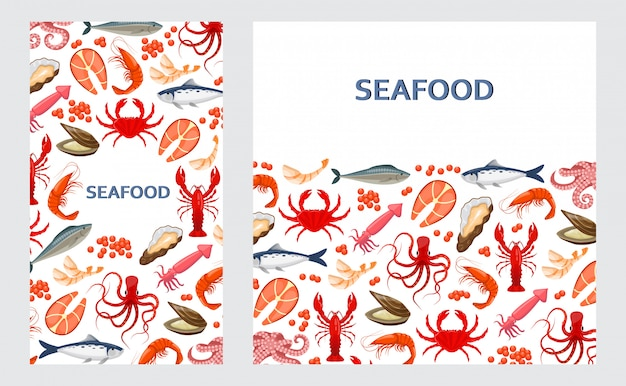 Flyers with seafood