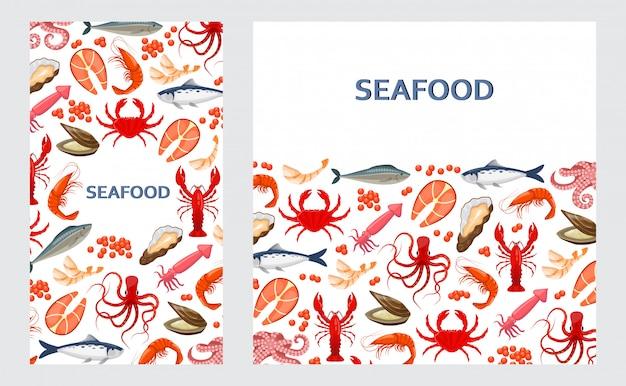 Флаеры с морепродуктами