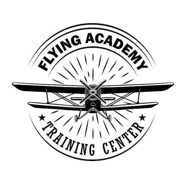 Flying academy emblem