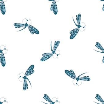 플라잉 가산기. 포장지, 벽지, 직물 원활한 패턴의 디자인.