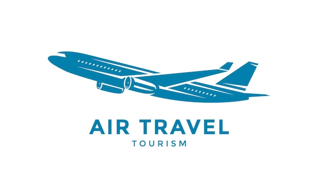 Flying airplane logo