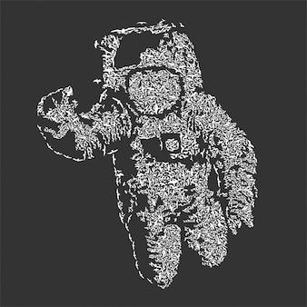 Flying astronaut banksy fanart