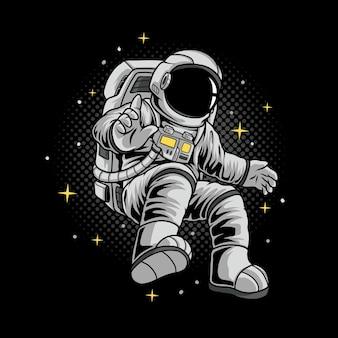 Иллюстрация летающего астронавта