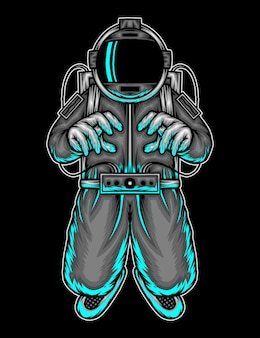 宇宙飛行士。プレミアムベクトル