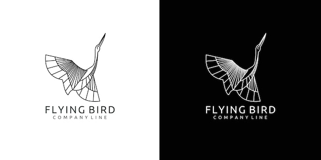 Flying bird design with sophisticated lines