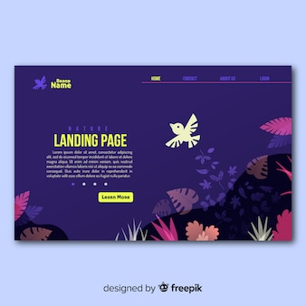 Flying bird landing page