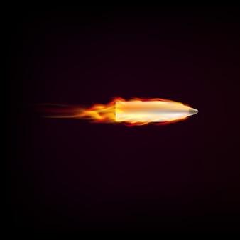 炎の赤い舌で飛んでくる弾丸