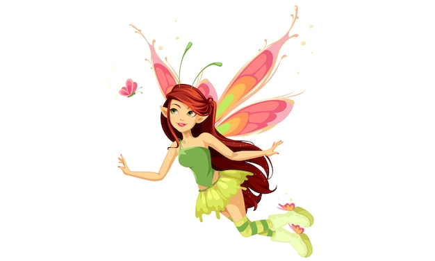 Flying butterfly fairy