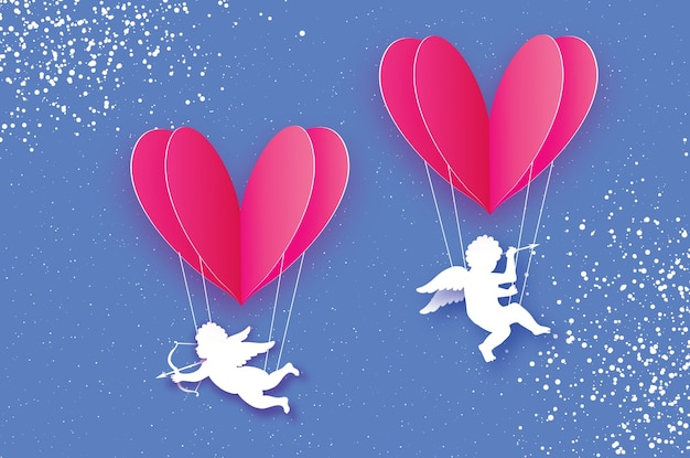 Flying cupids - little angels.