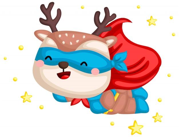 Flying deer superhero