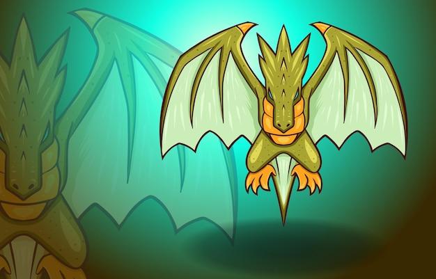 Flying dragon wings fantasy mythology monster legend creature