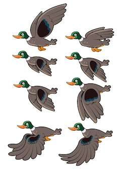 Flying duck animation sprite