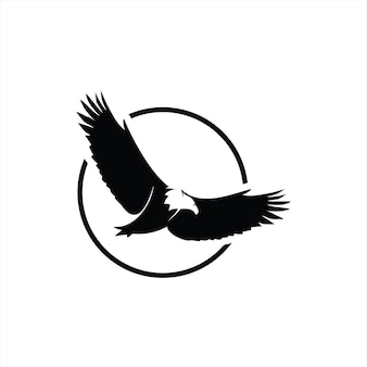 Flying eagle logo bird silhouette