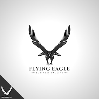 Шаблон логотипа летающий орел
