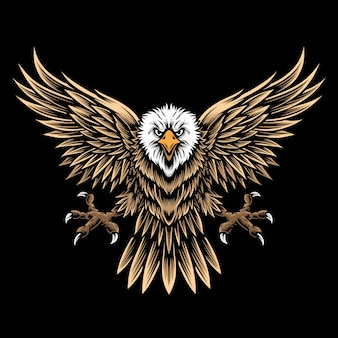Flying eagle and logo