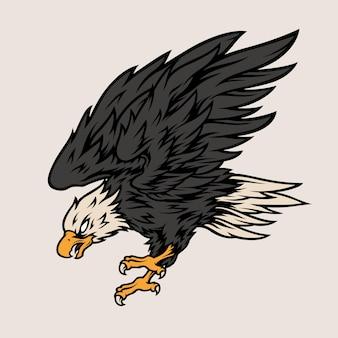 Летающий орел-хищник