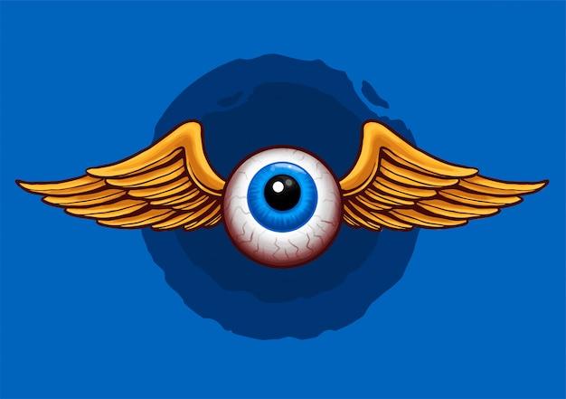 Flying eyeball design