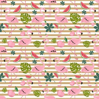 Flying flamingo pattern