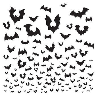 Flying halloween bat set