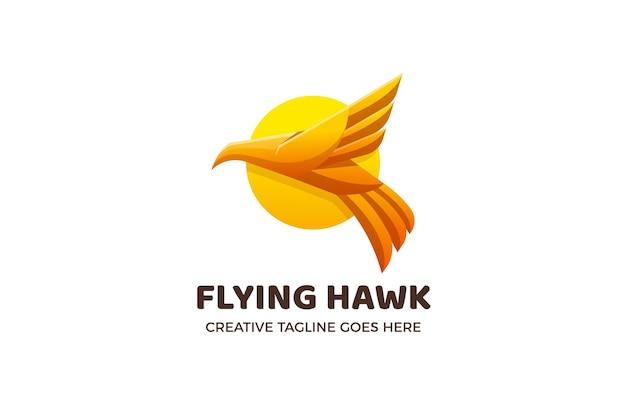Flying hawk logo template