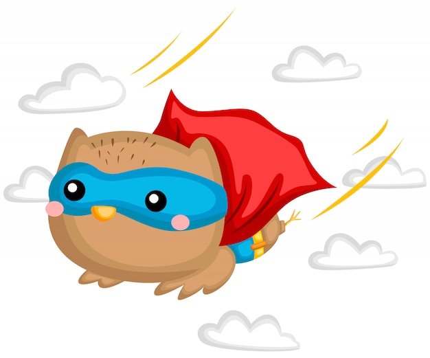 Flying owl superhero
