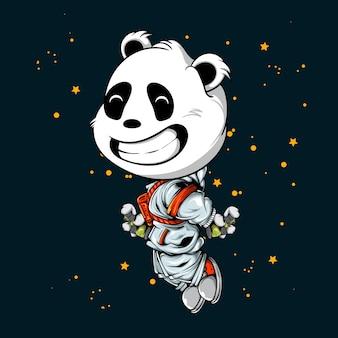 Flying panda astronaut