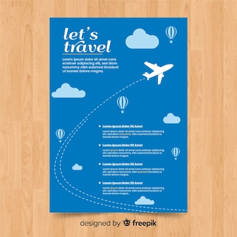 Flying plane travel flyer