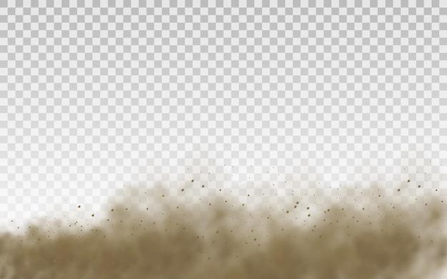 플라잉 모래 먼지 구름