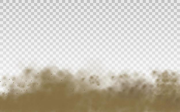 透明な背景に飛んでいる砂