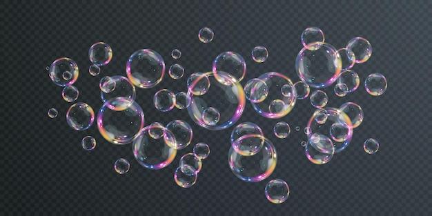 Иллюстрация летающих мыльных пузырей