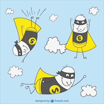 Volare supereroe dei cartoni animati