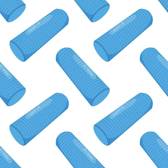 Foam roller seamless pattern myofascial release equipment