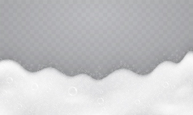 Foam with soap bubbles, top view. flow of soap and shampoos.