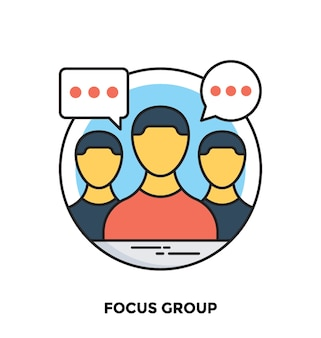 Focus group flat vector icon