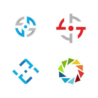 Шаблон дизайна иллюстрации вектора значка фокуса