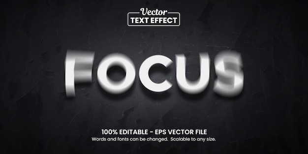 Focus illusion, editable text effect