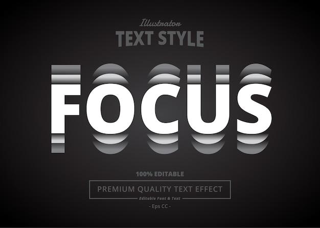 Focus illustrator text effect