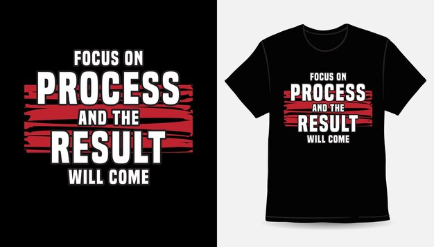 Сосредоточьтесь на процессе и результатом станет типографский дизайн футболки.