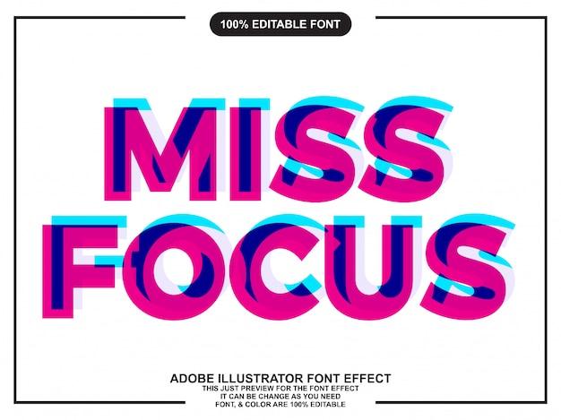 Focus overprint text style font effect