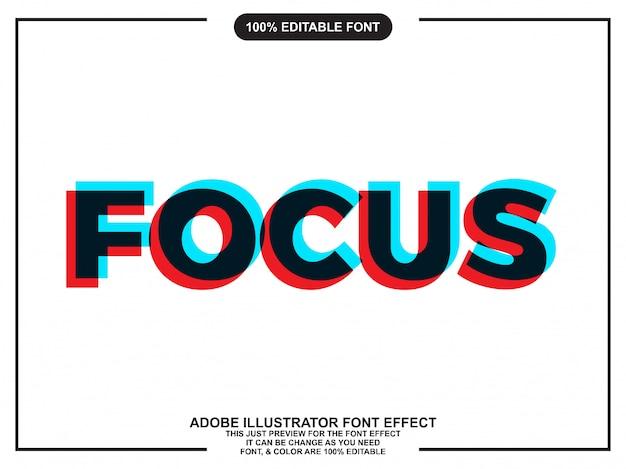 Focus overprint text style
