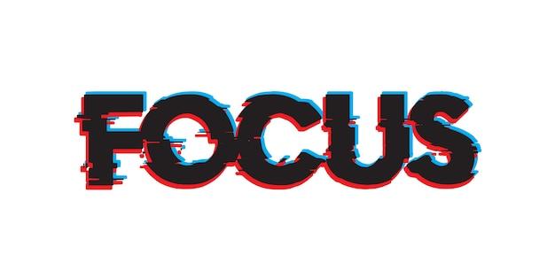 Focus text effect font