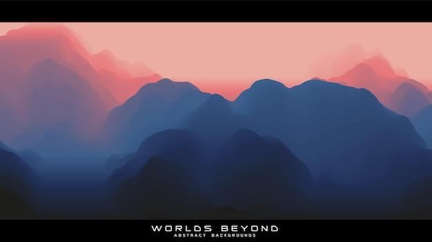 Nebbia sulle montagne