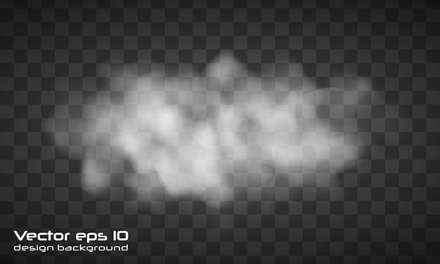 안개 또는 연기 격리 된 투명 특수 효과. 투명 한 배경에 연기 또는 구름 효과. 현실적인 안개.