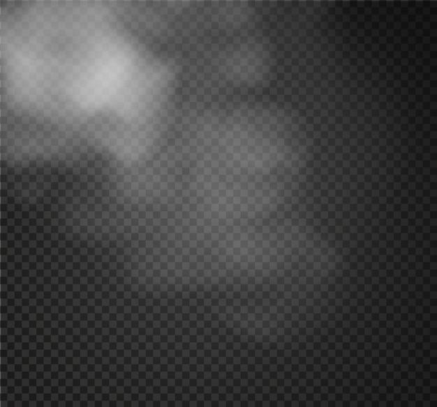 霧や煙が透明な特殊効果を分離しました。白い曇り、イラスト