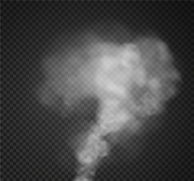 霧や煙が透明な特殊効果を分離しました。白い曇り、
