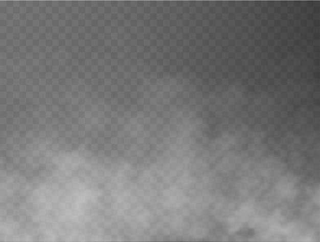 霧または煙分離透明特殊効果白いベクトル曇り霧またはスモッグの背景