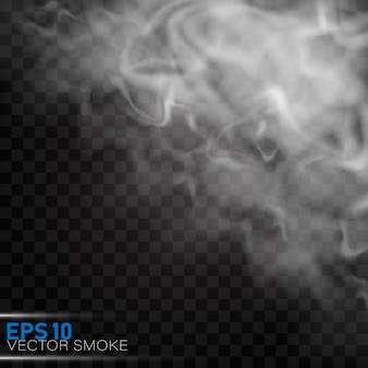 Fog or smoke isolated transparent special effect