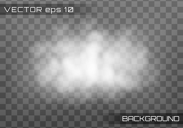Fog or smoke, realistic cloud, transparent smoke.